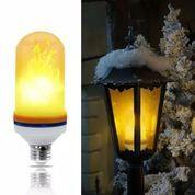 Dekorasi Lampu LED Hias Efek Api 9 W Fitting E27
