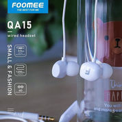 Headset Foomee QA15 Wired Earphone Pearl