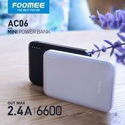 Powerbank 6600 Mah Foomee C06 Dual USB 2.4A Harga Promo