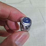 Cincin Batu Permata Blue Safir Afrika Kristal Natural (Asli Batu Alam) (21444903) di Kota Bekasi