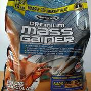 MuscleTech Premium Mass Gainer 12 Lbs / 12lb 12lbs Bulk Bulking Fitness Gym Lb Protein Suplemen Susu