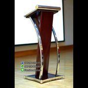Ready Stock Podium Minimalis Stainless Murah Mimbar Jati Jepara