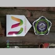 Logo Podium Minimalis Stainless Tell Decal Printing Duco Jepara