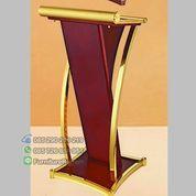 Podium Minimalis Stainless Ready Stock Mewah Gold Termewah