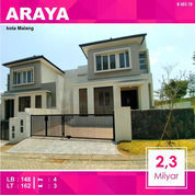 Rumah Baru 2 Lantai Luas 162 Di Palm Araya Kota Malang _ 493.19 (21512011) di Kota Malang