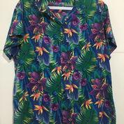 Kemeja Hawaii UNBRAND Lengan Pendek Bunga Size L Fit 3XL ORIGINAL (21516763) di Kota Tangerang Selatan
