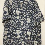 Kemeja Hawaii BUGLE BOY Lengan Pendek Biru Size L Fits 2XL ORIGINAL (21521495) di Kota Tangerang Selatan