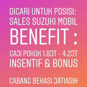 Lowongan Kerja Sales MOBIL Suzuki Area Bekasi
