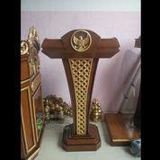Podium Mimbar President Jati Ukiran Solid Wood