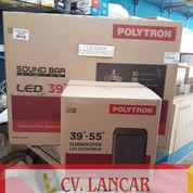 "TV LED POLYTRON 43"" Subwofer+Soundbar (Gratis Ongkir Dan Bayar Ditempat)"
