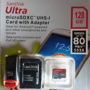 Kartu Memory SanDisk Ultra Micro SDXC UHS-I 128 GB Class 10