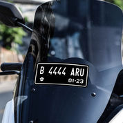 Sticker Cutting Visor Windshield NMAX Stiker Skotlet Plat Plate Nomor Polisi (21620595) di Kab. Bandung
