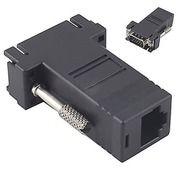 Konektor VGA Extender Male To RJ45 FEMALE Via UTP CAT5 CAT6 LAN Kabel