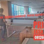 PASANG STIKER SANDBLAST PARTISI SEKAT MEJA KANTOR MEDAN MURAH (21676927) di Kota Medan