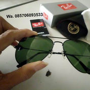 Kacamata Rayban Aviator Black Dark Green Lens (21683879) di Kab. Sidoarjo