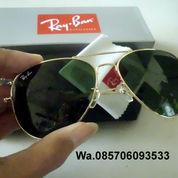 Kacamata Rayban Aviator Gold Black Green Lens