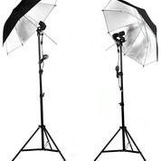 Umbrella Reflector Black-Silver 43 Inch Payung Studio Hitam Silver