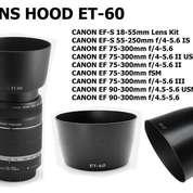 ET-60 Bayonet Hood SLR Accessories 55-250 75-300 Lens 58mm Hood