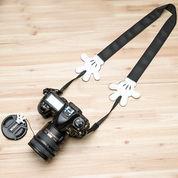 Tali Kamera Mickey Black Soulder Strap - MP06