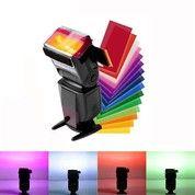 Gel Filter Flash SPEEDLITE Diffuser 12 Sets Color Strobist Speedlight (21801267) di Kota Malang