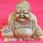 Patung Kayu Budha Tertawa Asli Peninggalan Orang Tua