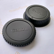 Body Cap & Lens Rear Cap Cover Canon Tutup Body Lensa