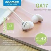 Handsfree Earphone FOOMEE QA17 Original Foomee 6D Stereo Sound Headset (21890175) di Kota Surakarta