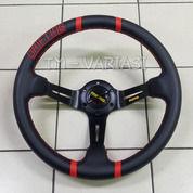 Stir Racing Import Momo Drifting 2 Garis Merah Celong 14 Inchi Palang Hitam (21927759) di Kota Jakarta Pusat