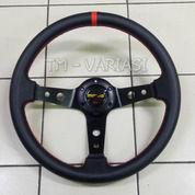 Stir Racing Import Momo Garis Merah Celong 14 Inchi Palang Circle Hitam (21928131) di Kota Jakarta Pusat