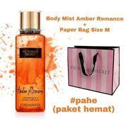 Paket Hemat Body Mist Amber Romance + Paper Bag Size M (21971479) di Kota Bandung