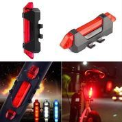 Lampu Depan / Belakang Sepeda LED Charging USB Rechargeable Lampu LED