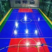 Jaring Dan Lantai Interlock Lapangan Futsal Komplit Dengan Gawang