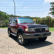 LAND CRUISER VX80 Turbo M/T 1997 Red Wine Asli L 90% Ors Cat Antik