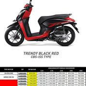 Honda Genio CBS ISS Trendy Black Red Otr Bekasi Bogor