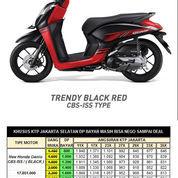 Honda Genio CBS ISS Trendy Black Red Otr Jakarta