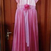 Gaun Elegan Pink Berhias Batu Permata Imitasi (2222153) di Kota Jakarta Pusat