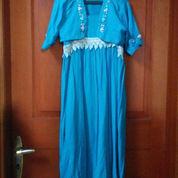 Gaun Elegan Blue & Sulam (2222309) di Kota Jakarta Pusat