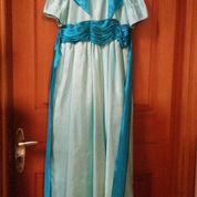 Gaun Elegan White & Blue Berpita (2222339) di Kota Jakarta Pusat