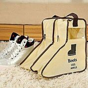 Boots Cover Pendek Tas Sepatu Pelindung Tempat Simpan Bot Storage Dust