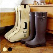 Boots Cover Tinggi Panjang Tas Sepatu Besar Pelindung Bot Travel Shoes Bag