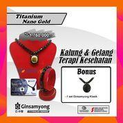 Kalung Kesehatan Ginsamyong Titanium Series 3 Nano Gold PROMO BONUS 1 Set Ginsamyong Classic