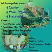 Waiter/Waiters De Food Restoran (22290731) di Kota Bekasi