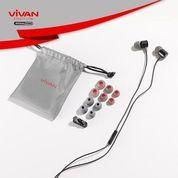 VIVAN Q11 Headset Earphone Android / IPhone Bass New Diaphragm Braided