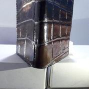 TERBAIK, Dompet Pria Kulit Buaya Model Berdiri Asli Jayapura