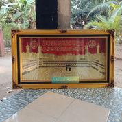 Lukisan Masjidil Haram Kuningan Asli 143x85cm. Timbul Mewah (22363911) di Kab. Jepara