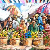 Lukisan Pasar Bunga Traditional (22455267) di Kota Denpasar