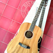 Gitar Fender Jumbo Akustik Dreadnought Natural Mahogany Kwalitas Pabrikan Not Gibson Ibanez Jackson (22540383) di Kota Bogor