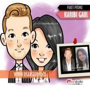 PROMO Lukisan Desain Gambar Wajah Karikatur Chibi GAUL MURAH (22556819) di Kota Surabaya