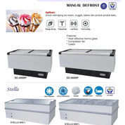 SLIDING FLAT FREEZER MANUAL DEFROST STELLA-200)