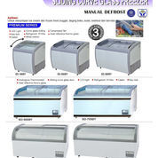 SLIDING CURVE FREEZER MANUAL DEFROST (SD-360BY)